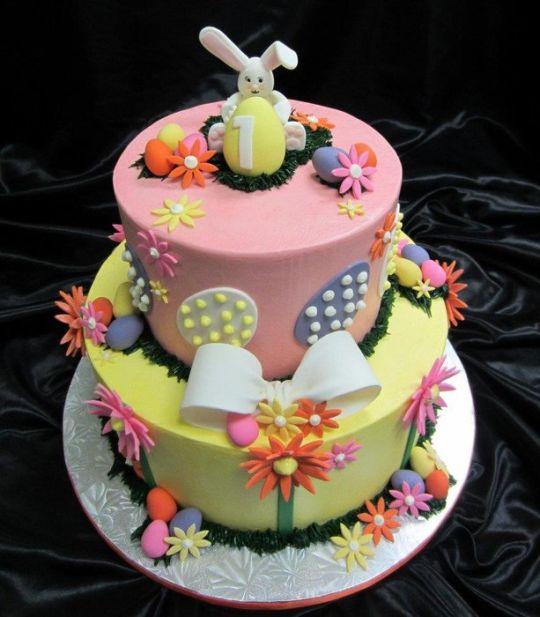 Easter Themed Birthday Cake