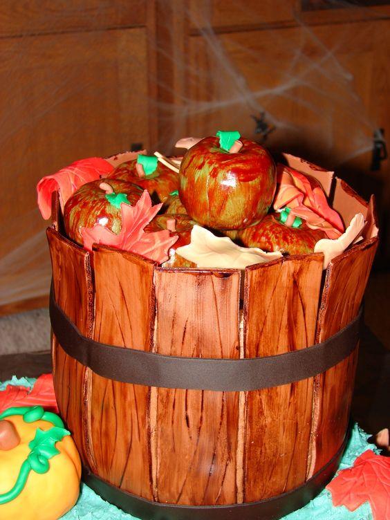 Fall Birthday Cake Basket