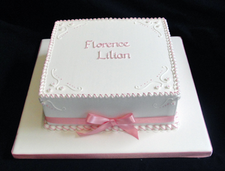 First Communion Square Cake