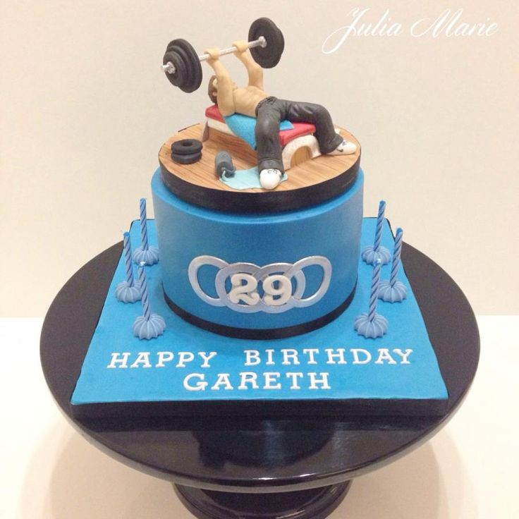 Fitness Birthday Cake