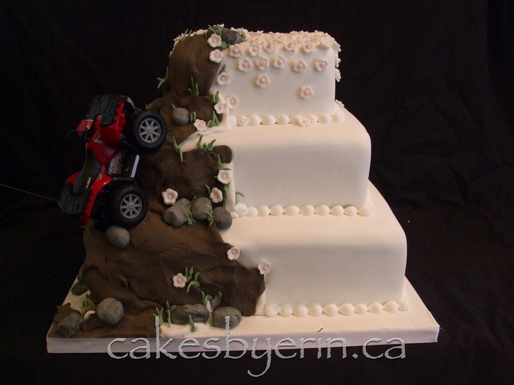 Four Wheeler Grooms Cakes Ideas