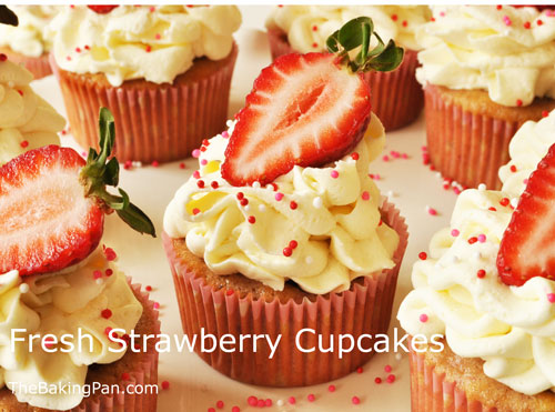 Fresh Strawberry Cupcakes
