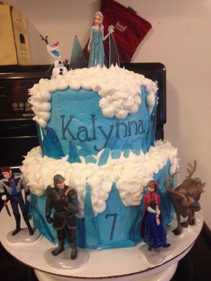 Frozen Buttercream Birthday Cake Ideas