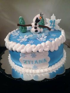 Frozen Cake with Buttercream Icing