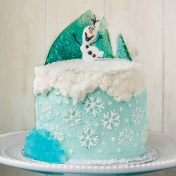 Frozen Chocolate Cake Theme