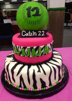 Girls Softball Birthday Cake Ideas