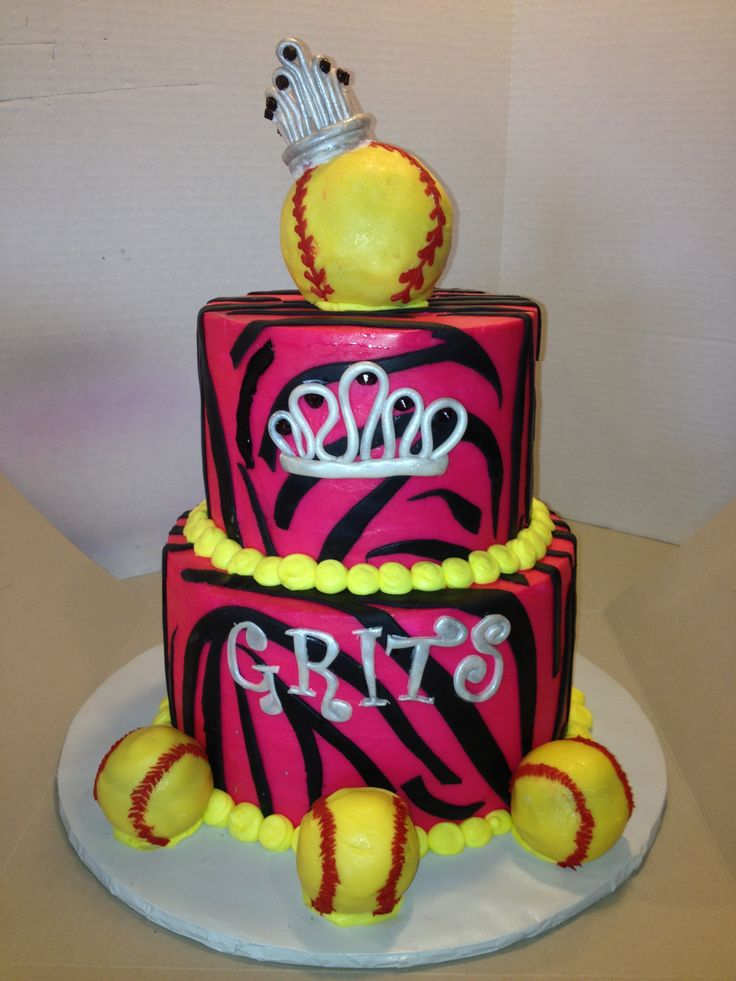 Girls Softball Cake