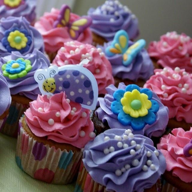 Girly Birthday Cupcake Cake Ideas
