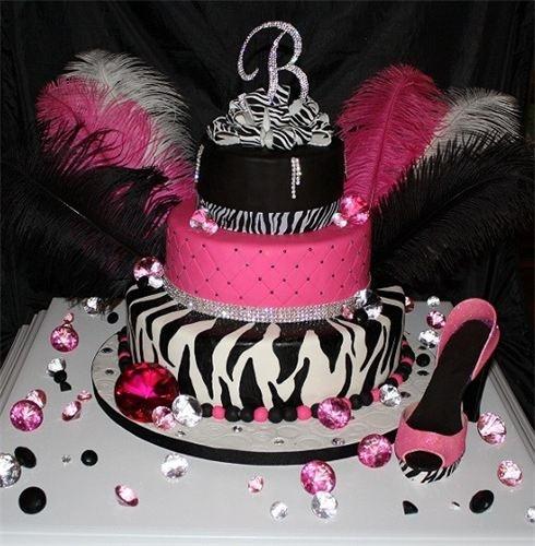 Glamour Sweet Sixteen Cake Ideas
