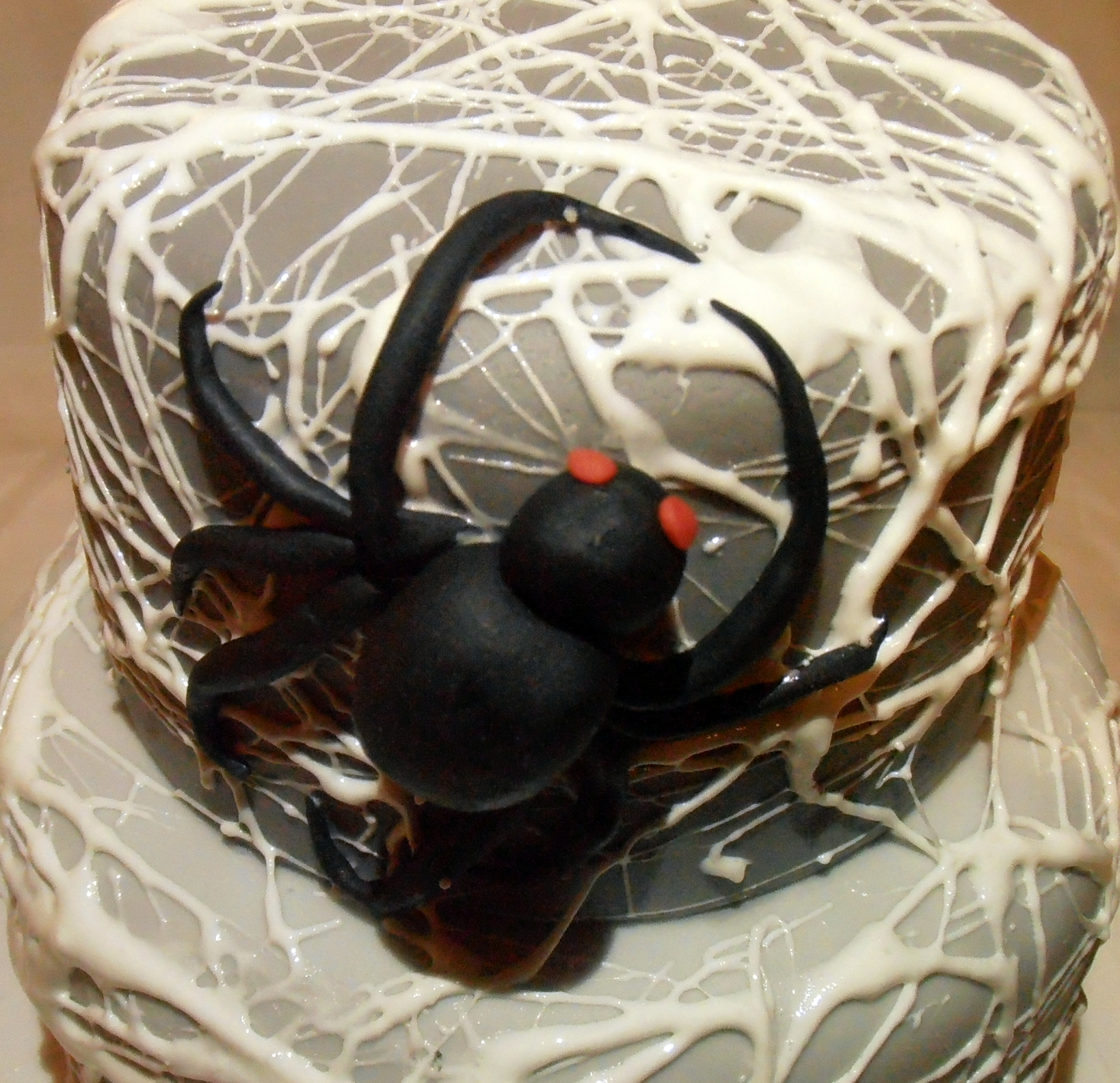 Halloween Cake with Spider Web
