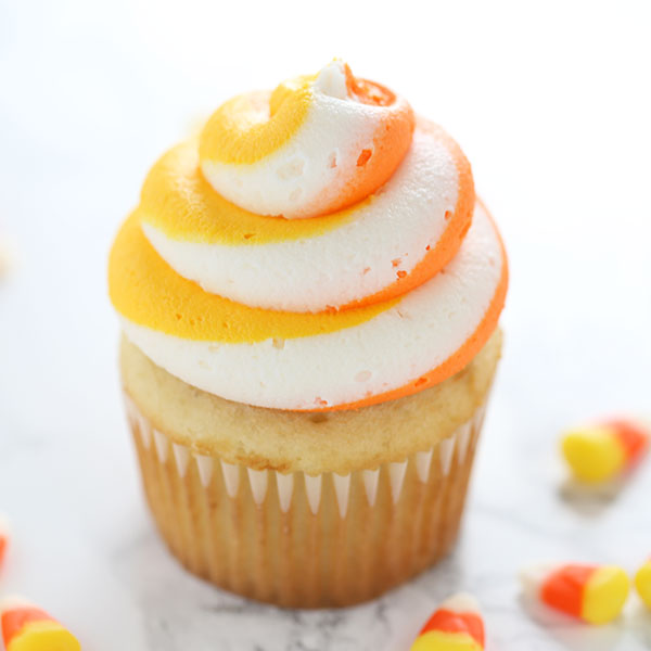 Halloween Cupcakes with Candy Corn