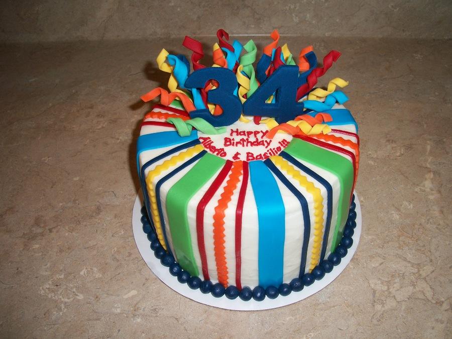 Happy 34th Birthday Cake