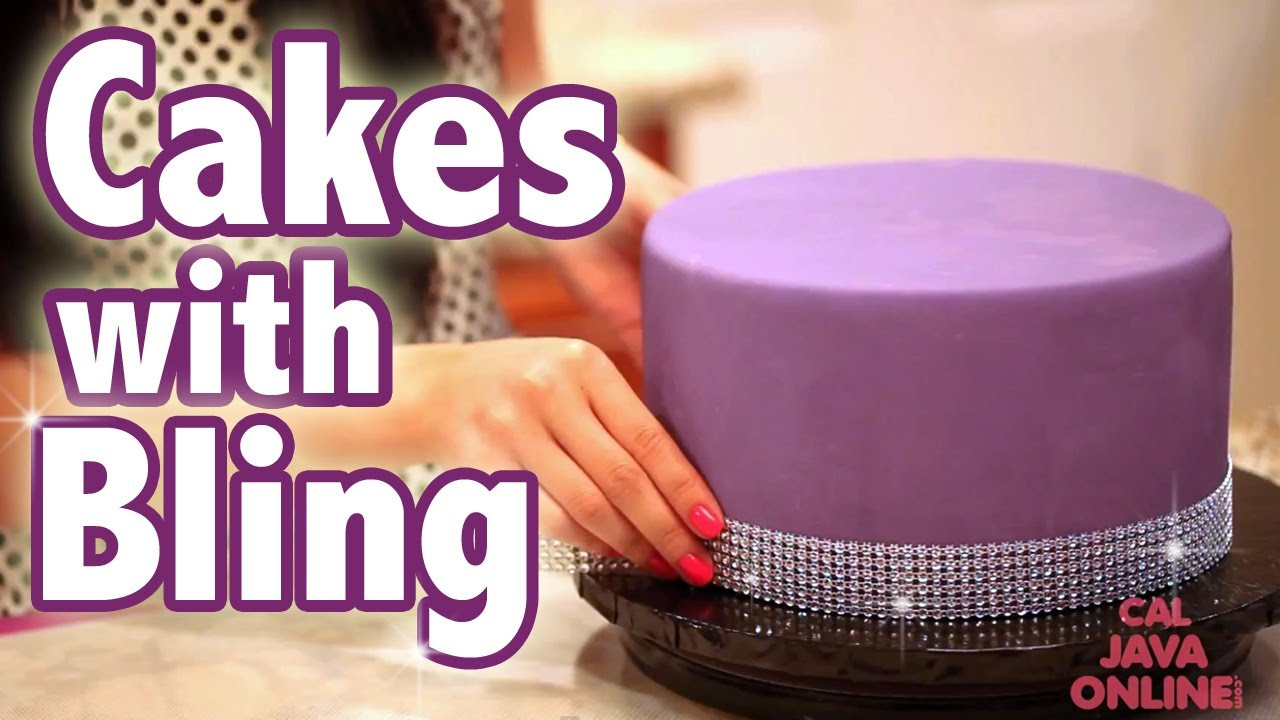Happy Birthday Cake with Bling