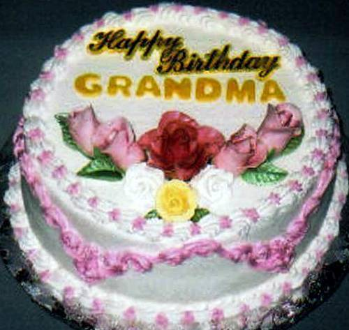 Happy Birthday Grandma Cake