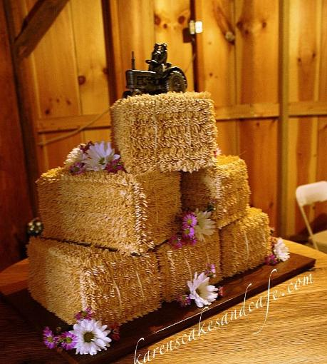Hay Bale Wedding Cake