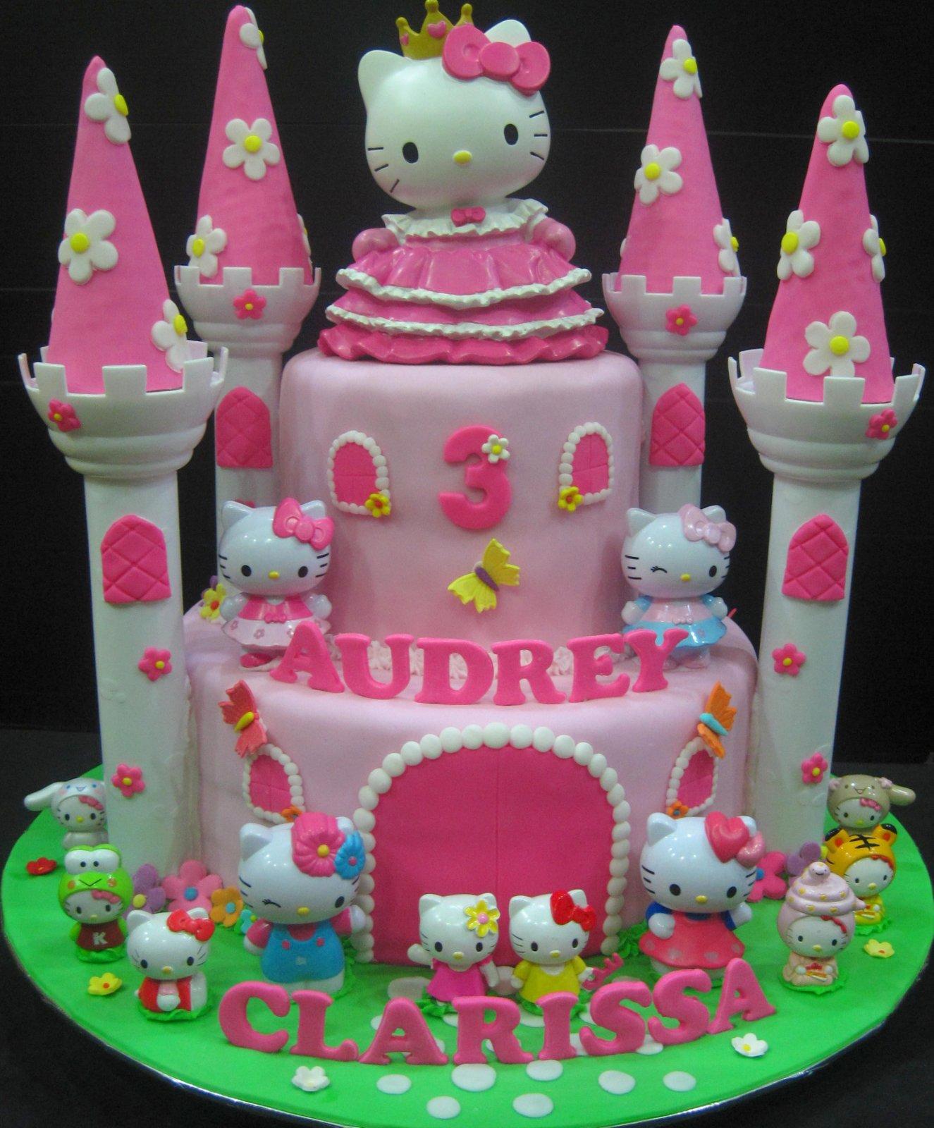10 Photos of Hello Kitty Castle Cakes