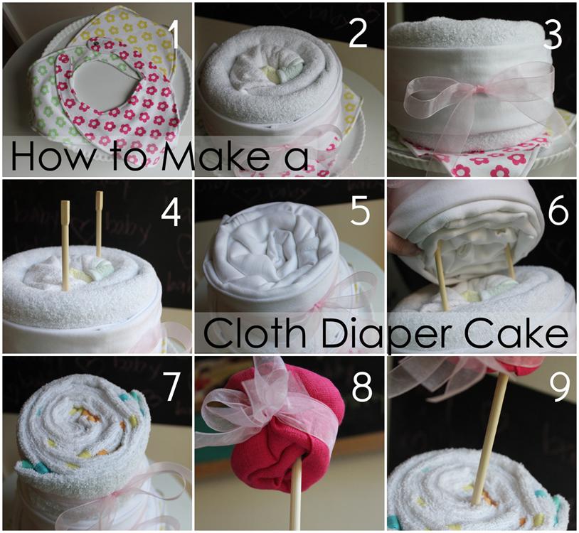 How to Make Cloth Diaper Cakes