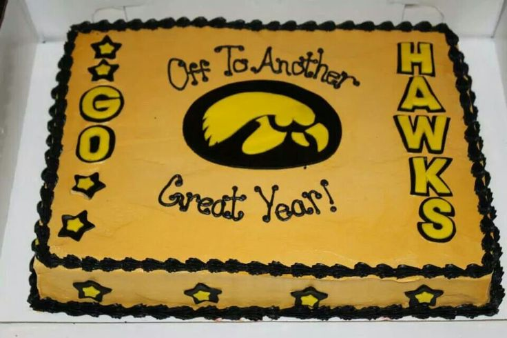 Iowa Hawkeye Birthday Cake