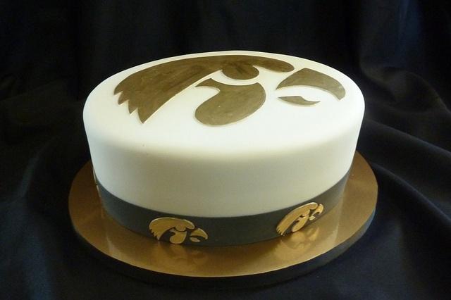 Iowa Hawkeye Grooms Cake