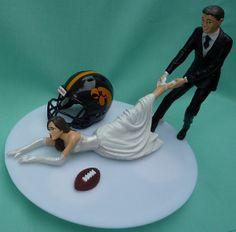 Iowa Hawkeye Wedding Cake Topper