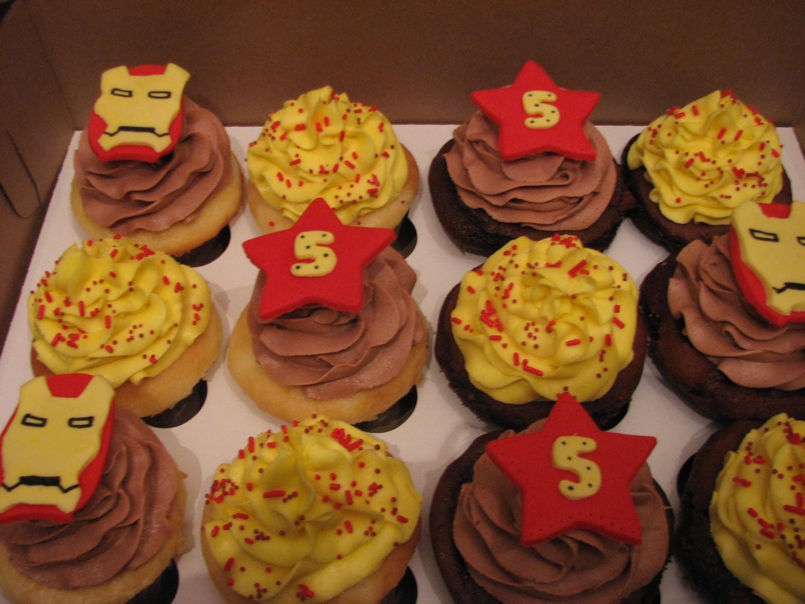 Iron Man Birthday Cake Cupcakes