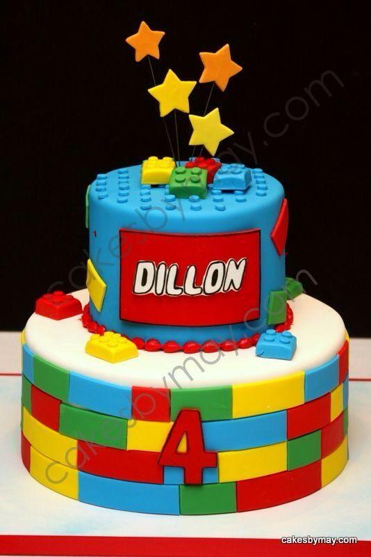 Kids LEGO Birthday Cake