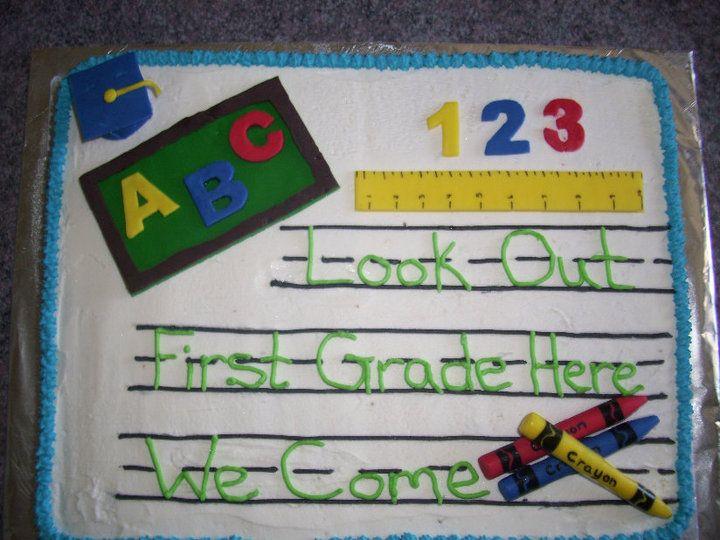 Kindergarten Graduation Cake Idea