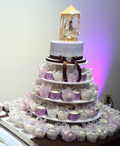 Lavender Cupcakes Wedding Cakes