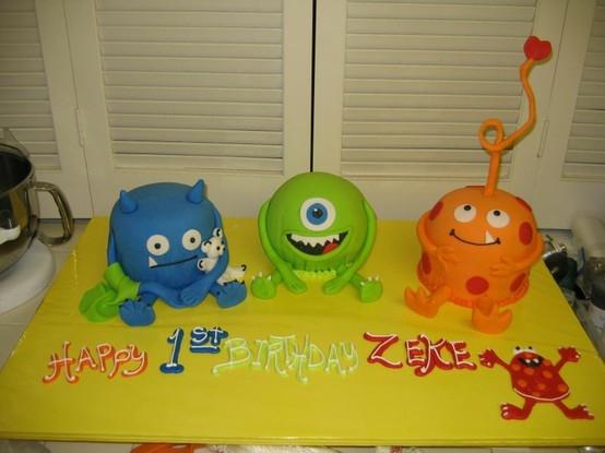 Little Monster Birthday Cake Ideas