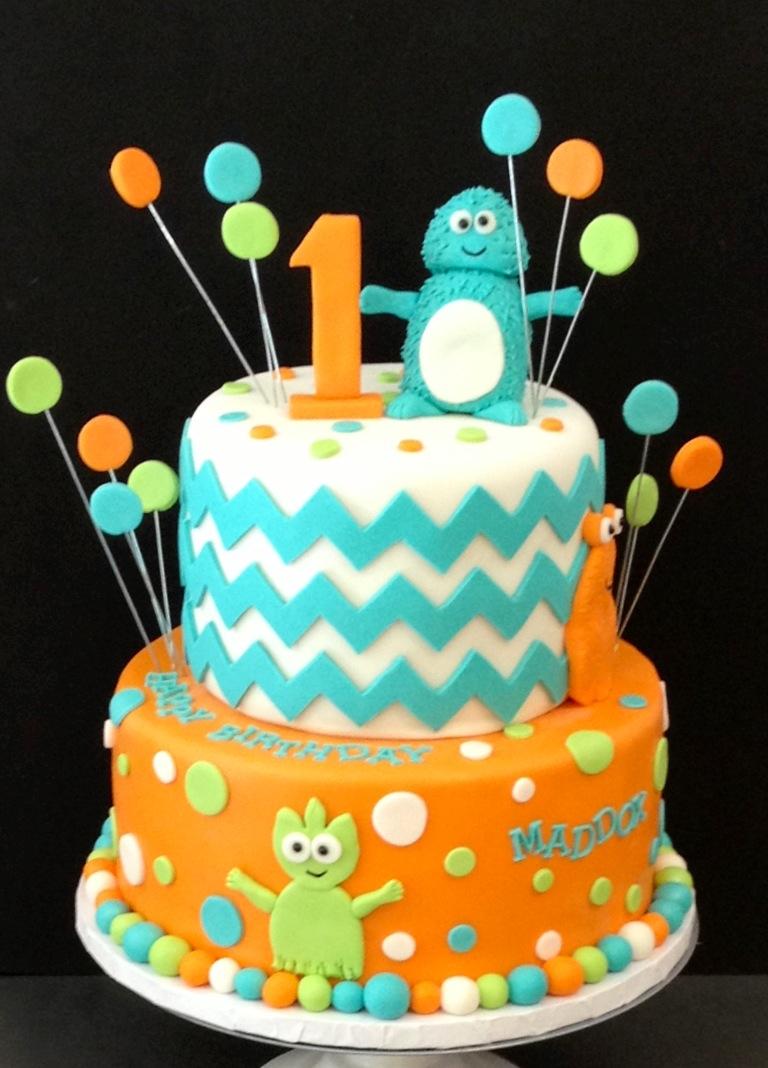 Little Monster Birthday Cake