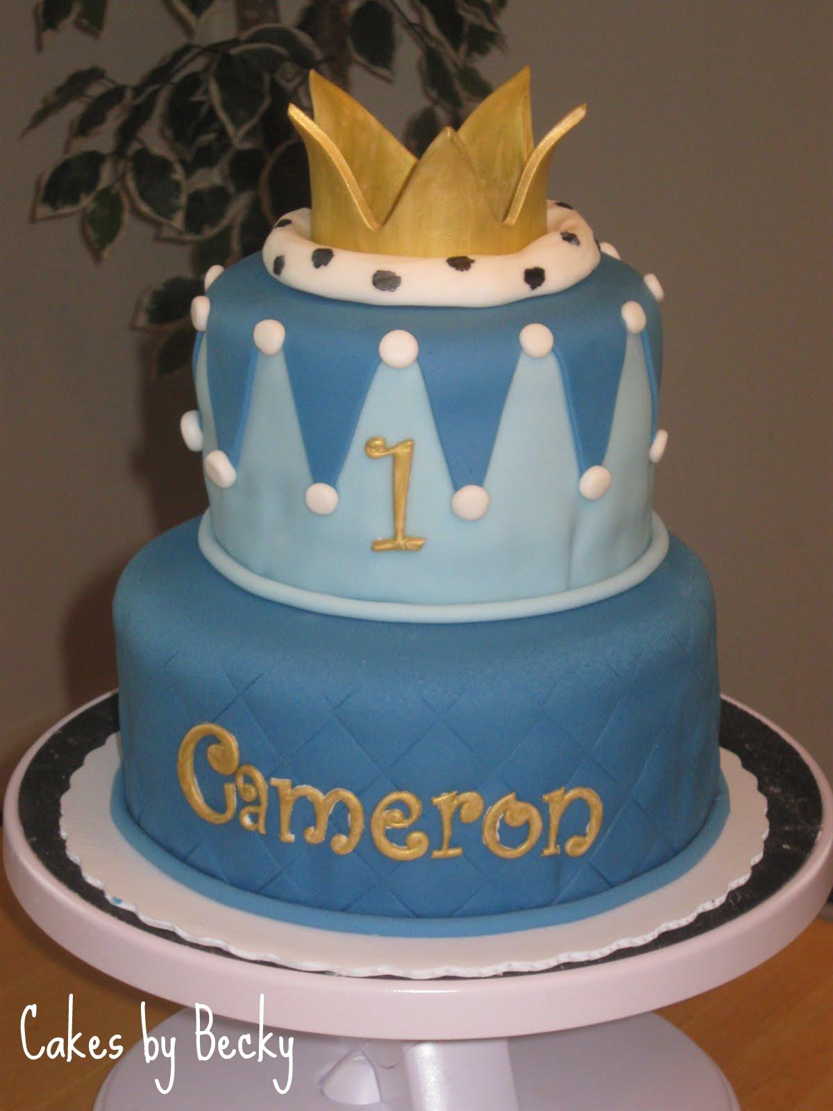 Little Prince 1st Birthday Cake