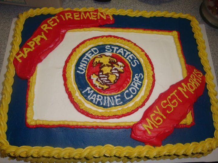 Marine Corps Retirement Cake