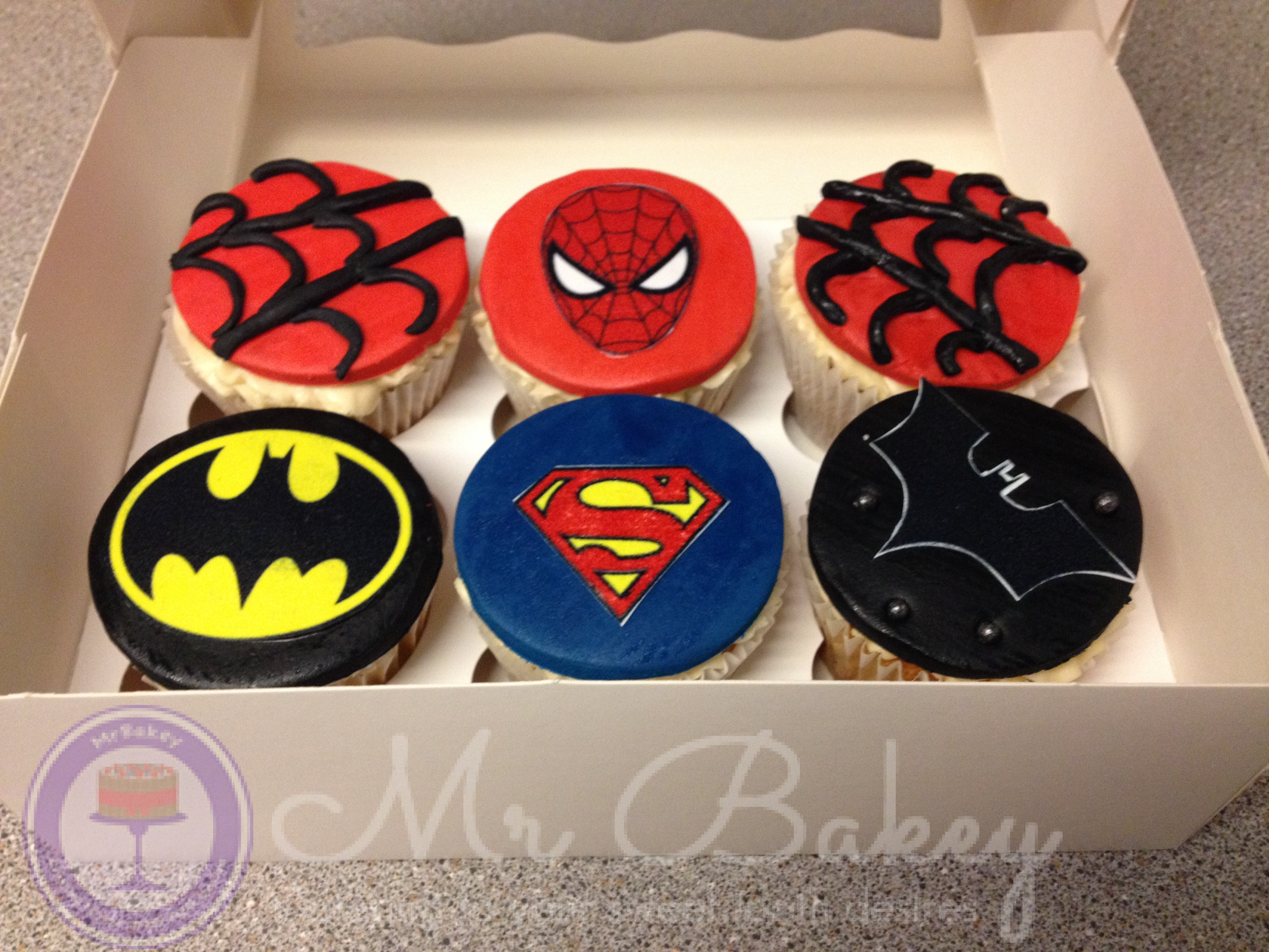 Marvel DC Comic Cupcakes
