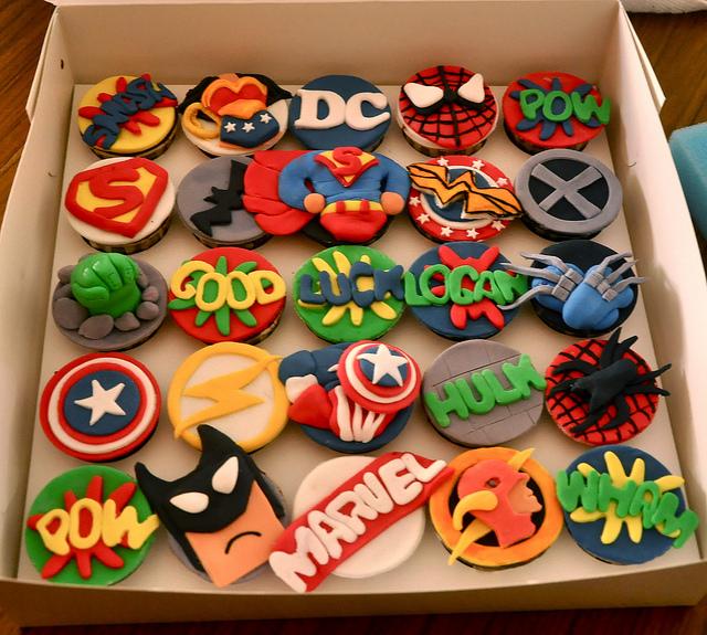 Marvel Super Heroes Cake Cupcakes