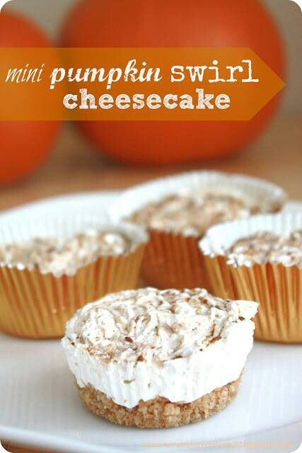 Mini Pumpkin Swirl Cheesecake Recipes