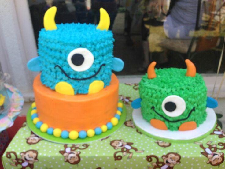 Monster Birthday Boy Smash Cake