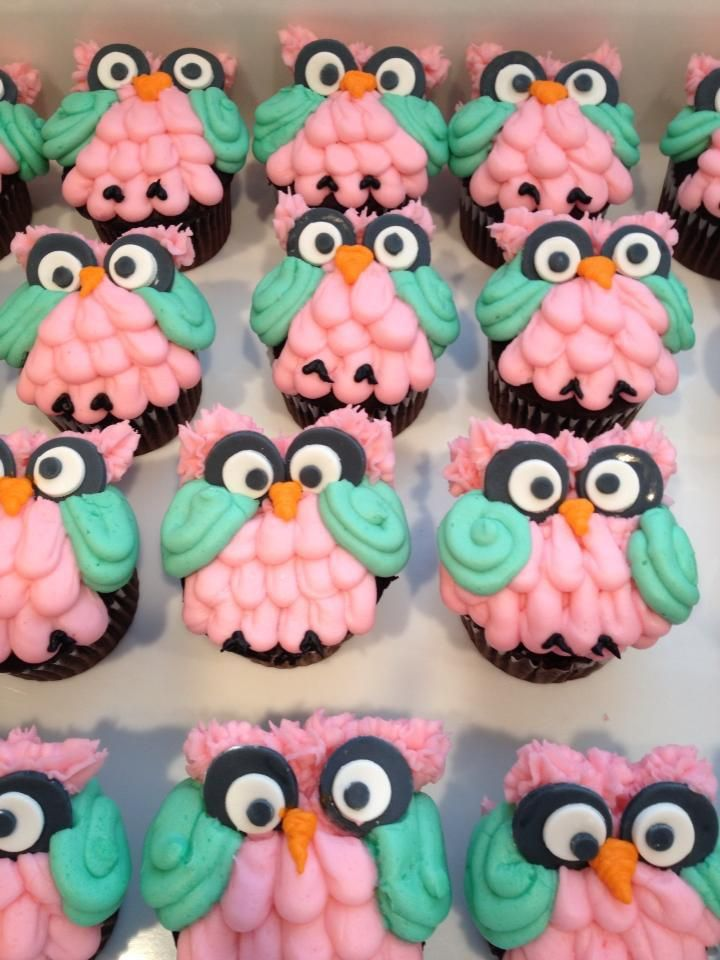 Owl Baby Shower Cupcakes