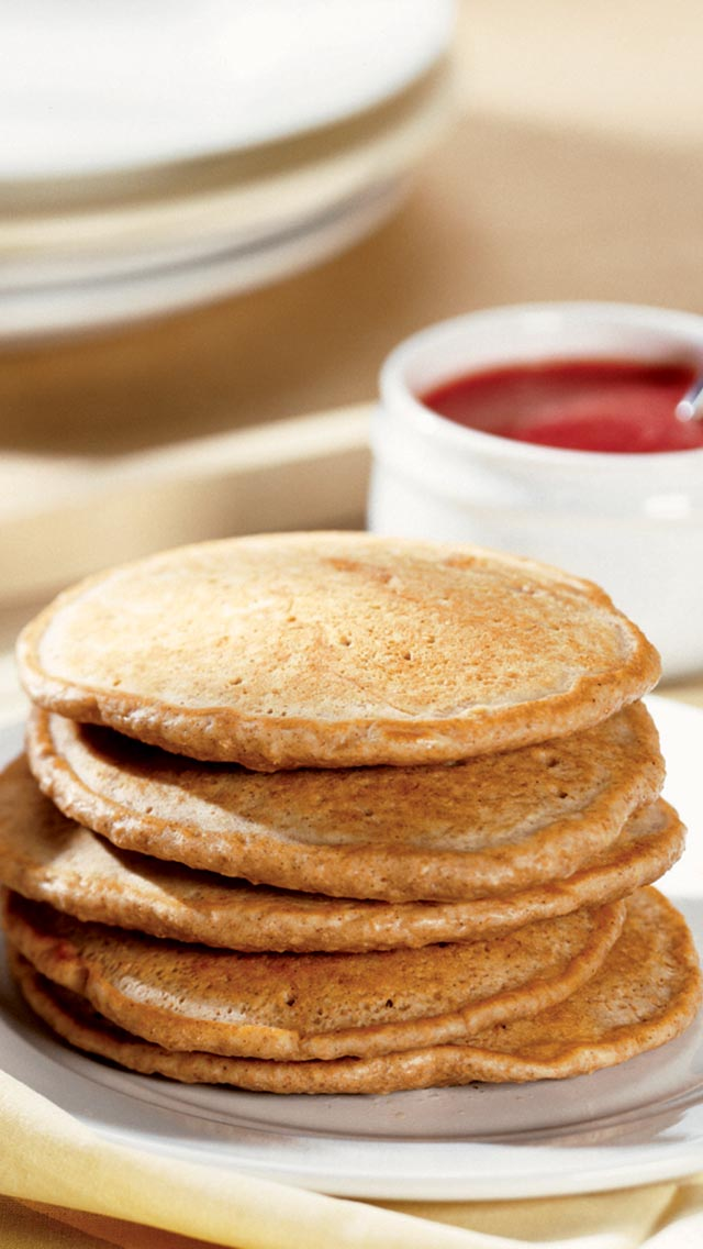 Pancakes with Strawberry Puree