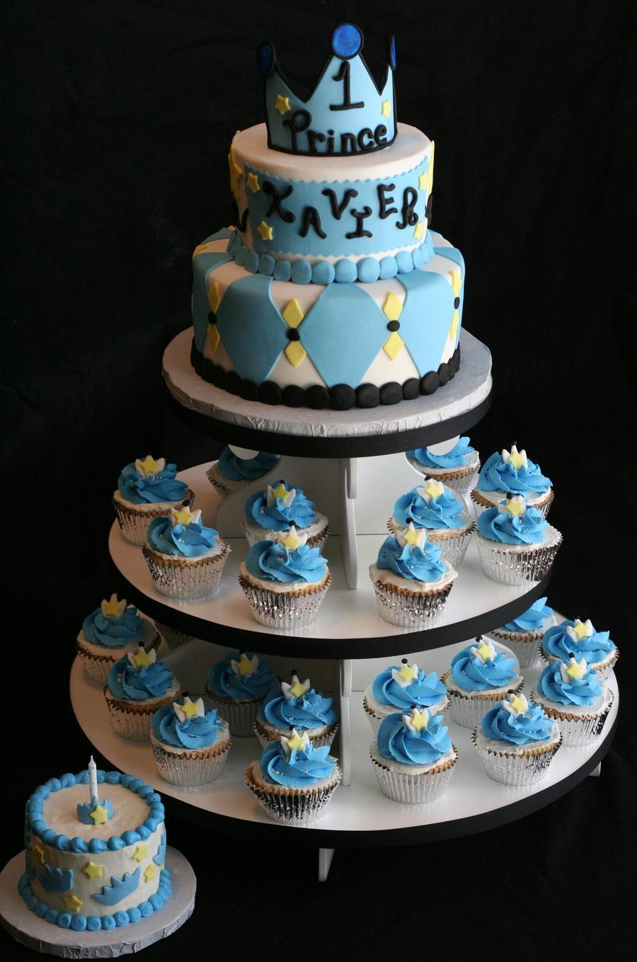 Prince Theme 1st Birthday Cakes for Boys