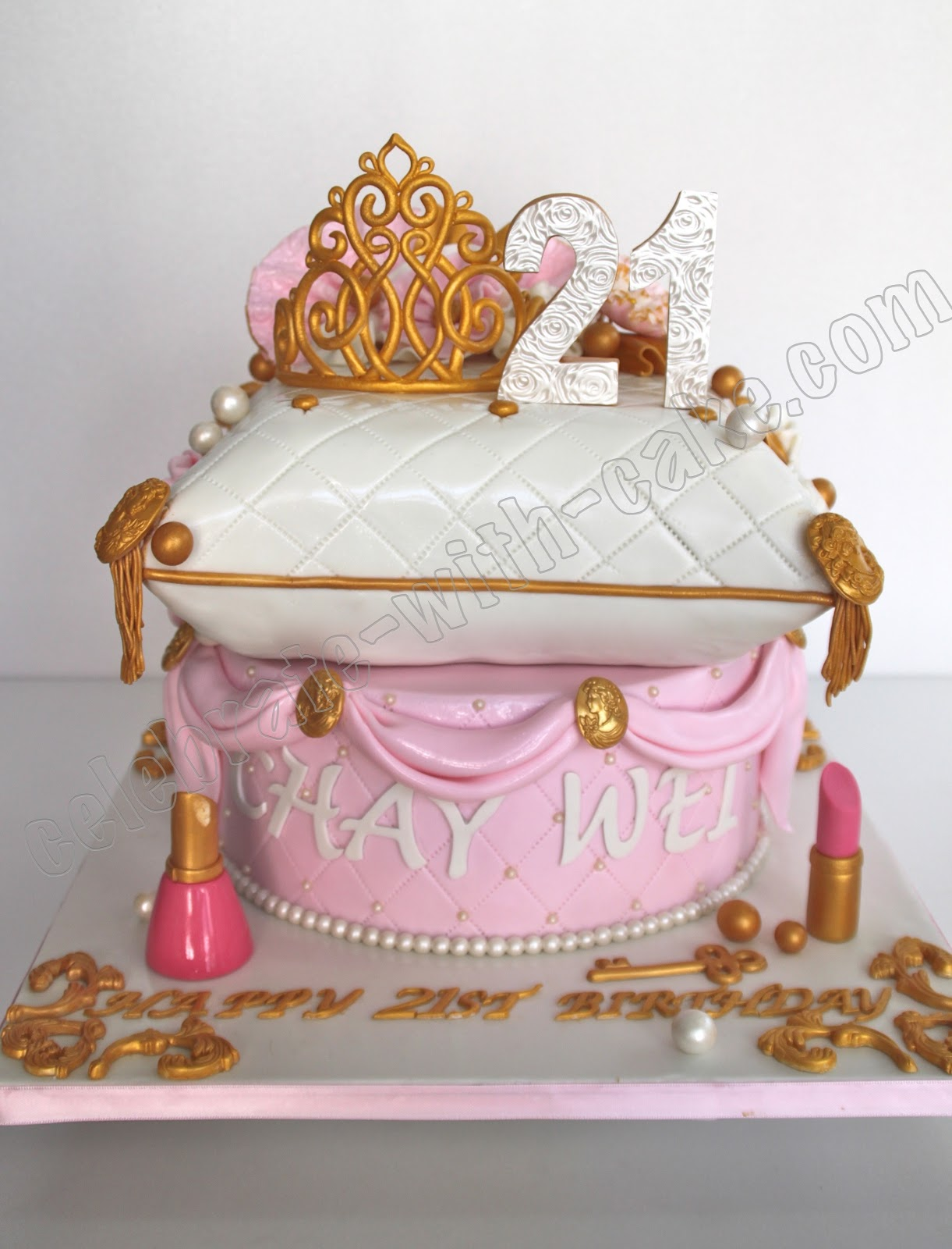 Princess Pillow Cake with Tiara