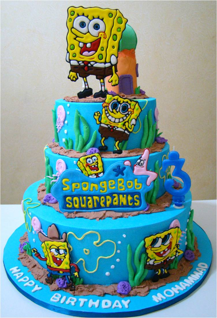 Stupendous 9 Spongebob Birthday Cakes For A 2 Year Old Photo Publix Funny Birthday Cards Online Fluifree Goldxyz