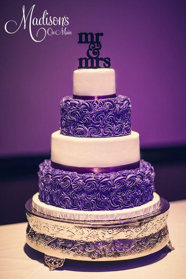 7 Photos of Purple Rosette Wedding Cakes