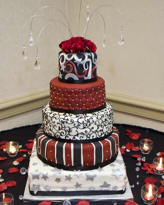 12 Photos of Stars Red And Black Cakes