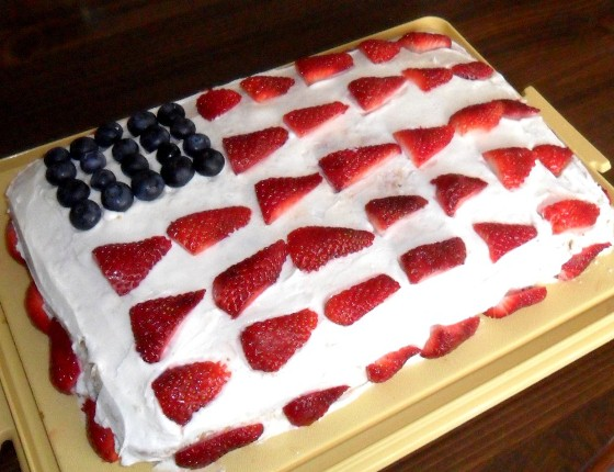 Simple Fourth of July Cakes