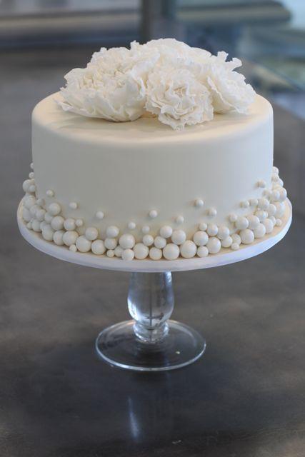 Single Layer Wedding Cake