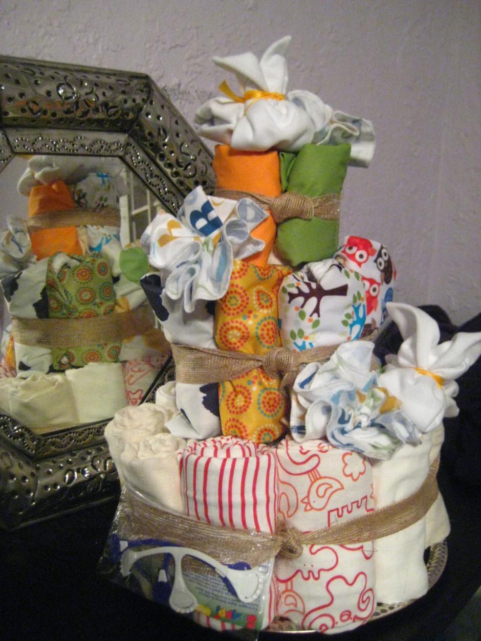 Sleeping Baby Diaper Cake