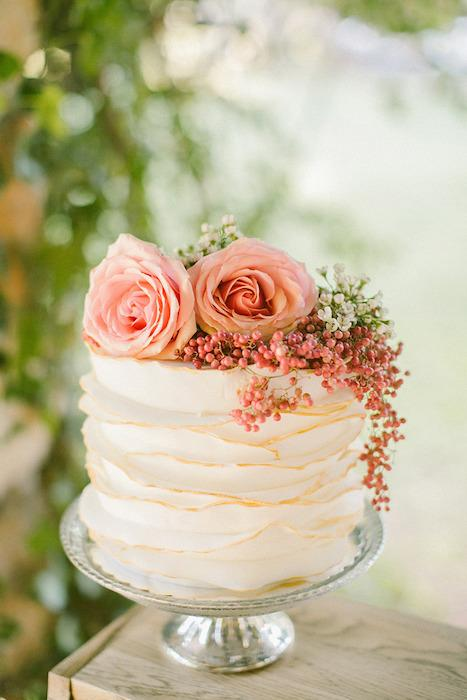 Small Wedding Cake with Flower