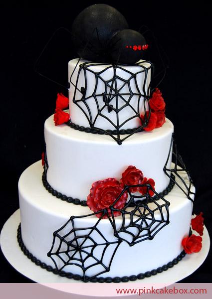 Spider Halloween Wedding Cakes