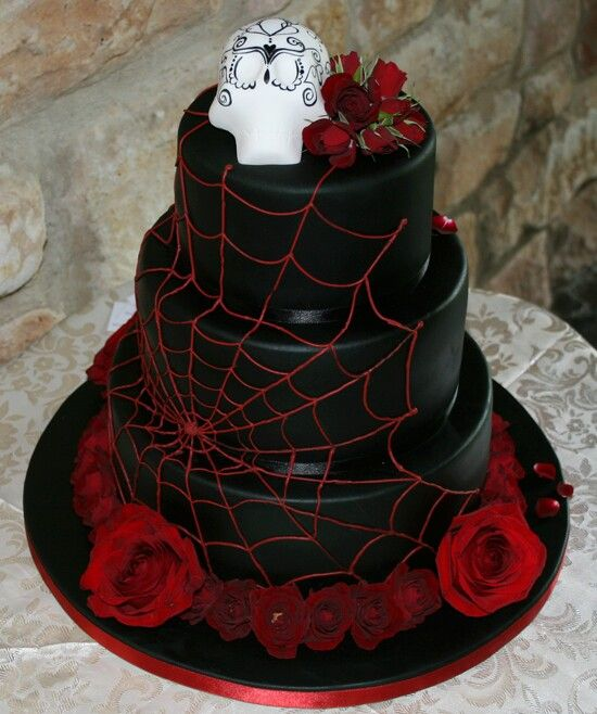 Spider Web Wedding Cake