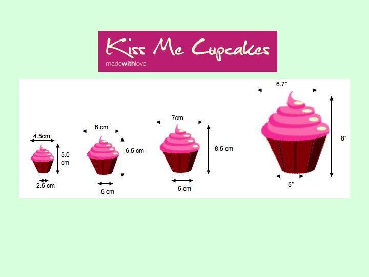 Standard Cupcake Size
